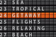 Departure Style Information Board - GETAWAY