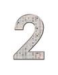 2 - Les Chiffres strass et paillettes