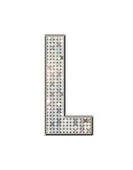 L - Alphabet strass et paillettes