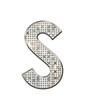 S - Alphabet strass et paillettes