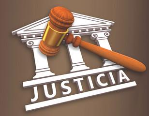 justicia 3D + mazo