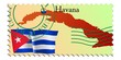 Havana - capital of Cuba. Vector stamp