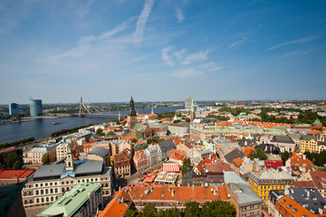 Panoramic view of Riga