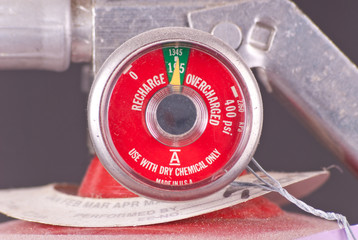 Fully Charged Meter on Fire Extinguisher