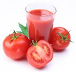Tomato juice and vegetables.