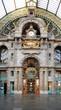 Leinwanddruck Bild - Historical Antwerpen-Centraal railway station