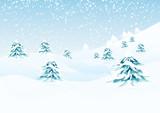 Fototapety Vector winter landscape