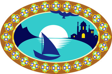 embleme with oriental theme