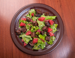 meat salad with vegetable and sesame