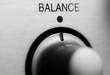 Balance knob on hifi amplifier