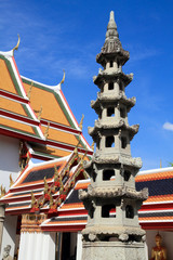 Chinese pagoda in thai temple