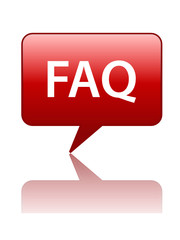 FAQ Speech Bubble Icon (contact support hotline help sos button)