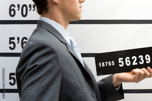Young businessman mugshot