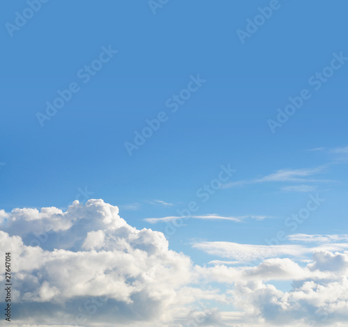 Blue sky & cloud