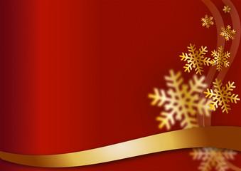 weihnachtlicher Hintergrund abstrakt rot - Schnee