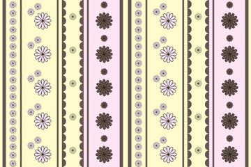 Seamless flowers (beige-pink)
