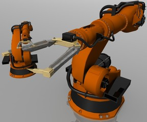 two robot