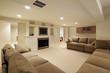Leinwanddruck Bild - Basement in luxury home