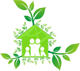 Casa famiglia verde. Green House Family