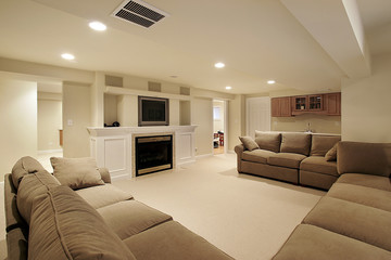 Basement in luxury home