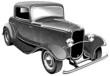 vintage muscle car_engraing