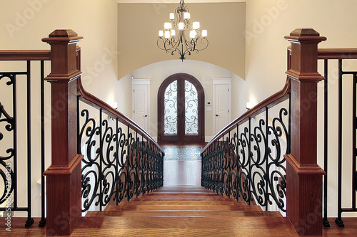 Stairway leading to foyer