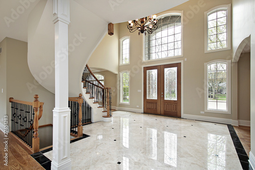 Foyer and circular staircase