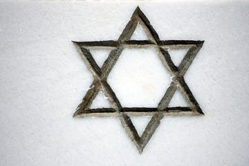 stella di David su un muro