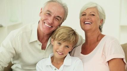 Senior Couple and Their Grandson