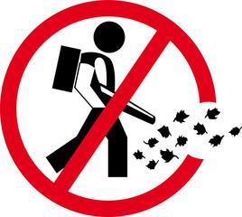 Laubbläser verboten