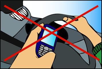 Non usare il telefono mentre guidate