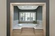 Circular tub in master bath