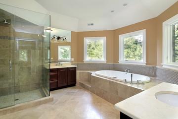 Master bath iwith glass shower