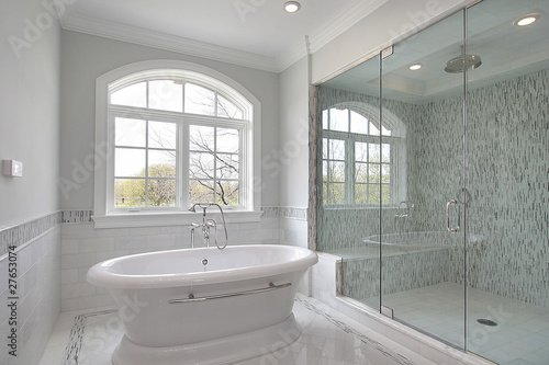 Master bath with large shower - 27653074