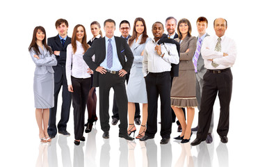 attractive business people - the elite business team