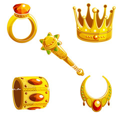 set of royal jewelry