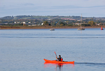 kayaker on River Exe