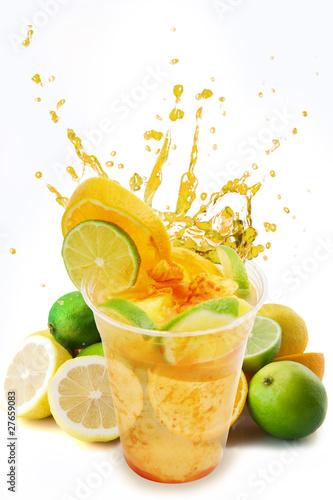 Splash citrus drink refreshment