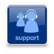 Button Support blau