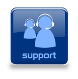 Button Support blau