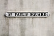 Birmingham sign - Saint Paul's Square