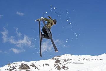 Ski jump in austria, a lot of snow in winter