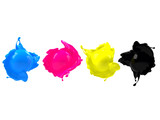 Fototapety CMYK spheres in paint splash