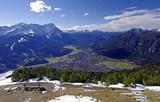 Garmisch - Partenkirchen mit Zugspitze und Alpspitz