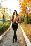 cute girl outdoor autumn