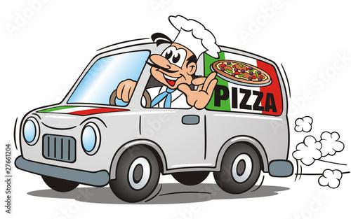Pizza Service Van - 27661204