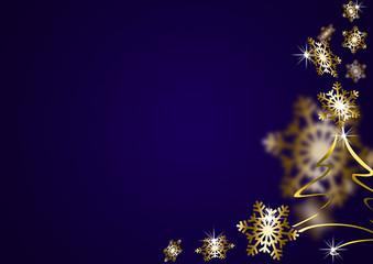 abstrakter weihnachtlicher HG Schneeflocken blau