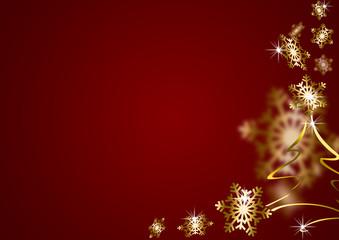 abstrakter weihnachtlicher HG Schneeflocken rot