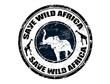 Save Wild Africa stamp