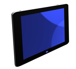 blue TV screen